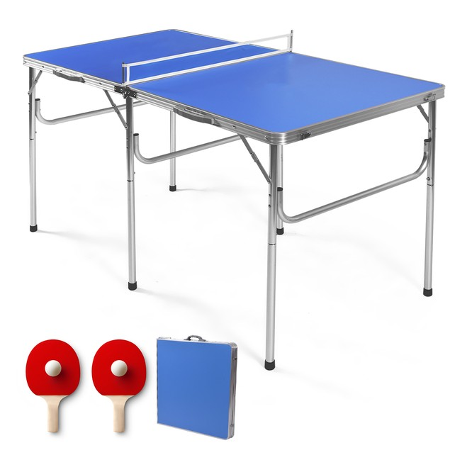 60'' Portable Folding Ping Pong Table w/ Accessories