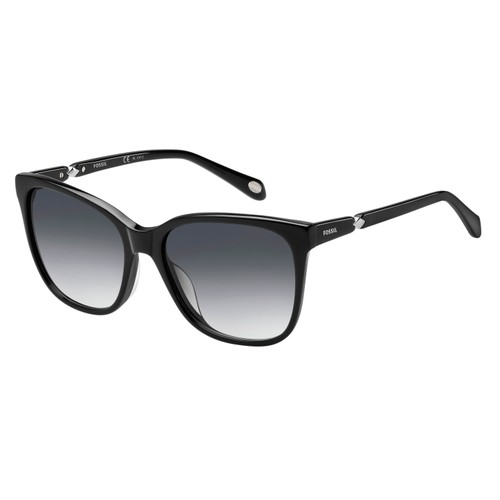 FOSSIL Women SUNGLASSES FOS2047S029A BLACK GRADIENT GREY SHADED 55 17 135