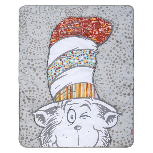 Trend Lab Dr. Seuss Peek-a-Boo Cat in the Hat 4 Piece Crib Bedding Set