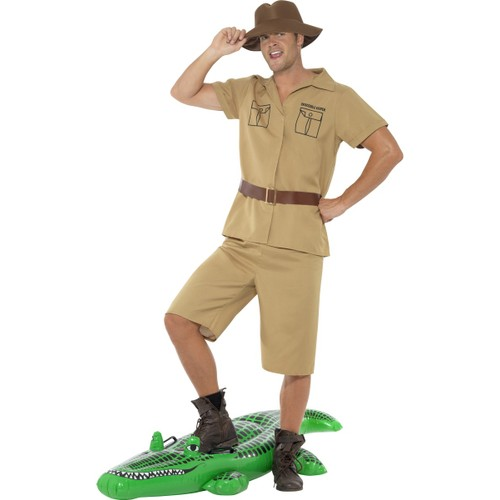 Safari Man Costume Crocodile Hunter Steve Irwin Keeper Australian Adult