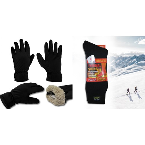 Polar Extreme Thermal Insulated Socks And Thermal Insulated glove Gift set