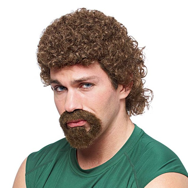 Kenny Powers Brown Mullet Wig and Beard Combo