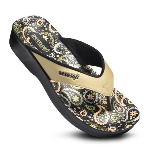 AEROSOFT Dojo Comfortable Casual Women's Flip Flops