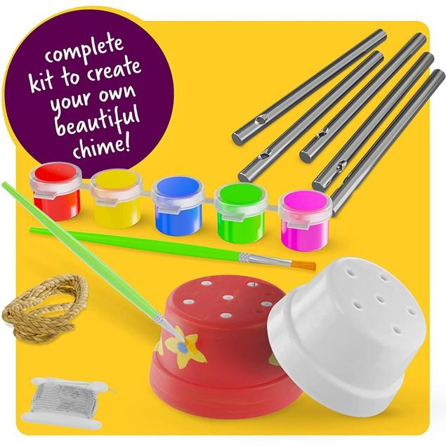 Mini Wind Chime Making Kit - Create & Paint Mini Wind Chime