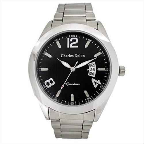 Charles Delon Men's Watches 5471 GPBS Silver/Silver Stainless Steel Quartz Round