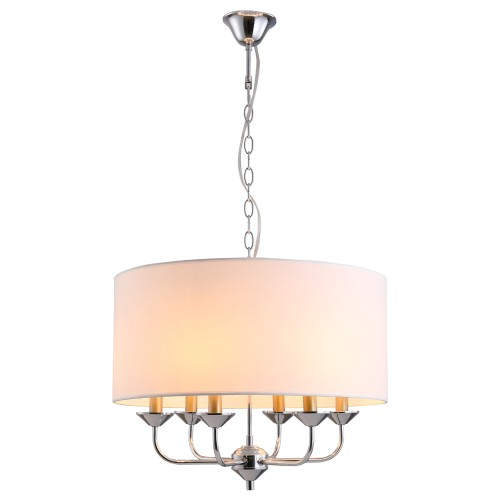 Decorative Ceiling Chandelier Candle Fixture Lampshade w/Adjustable Chain