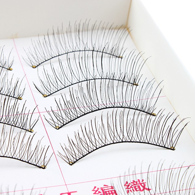 10Pairs Makeup Handmade Natural Fashion Long False Eyelashes Eye Lashes