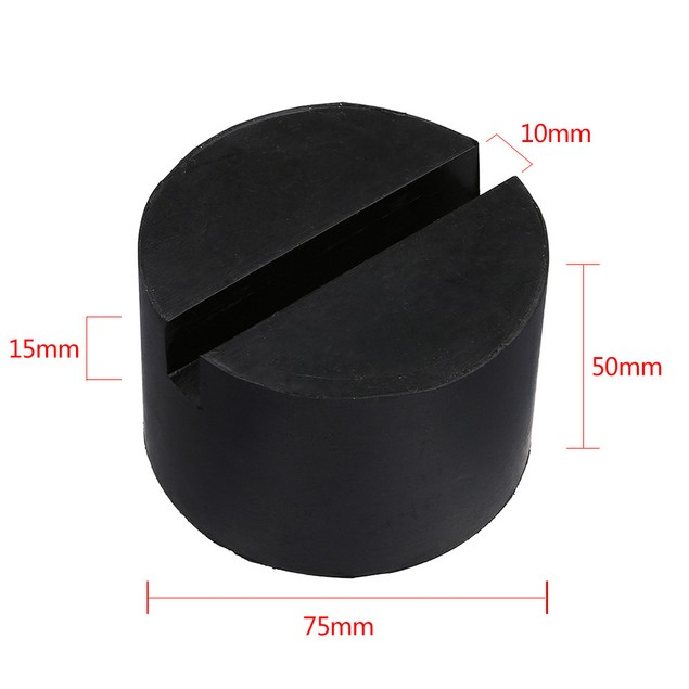 Car Auto Universal Slotted Rubber Jack Pad Frame Rail Protector by TMB@1