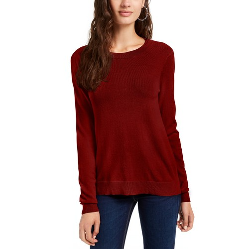 Planet Gold Juniors' Crewneck Sweater Red Size Extra Small