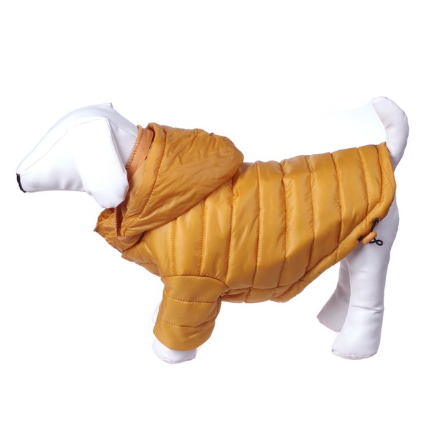 Collapsible Sporty Avalanche Dog Coat w Adjustable and Removable Hood
