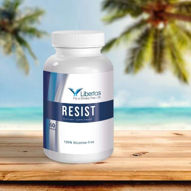 Libertas Resist Nicotine Free Dietary Supplement for Men & Women, 60