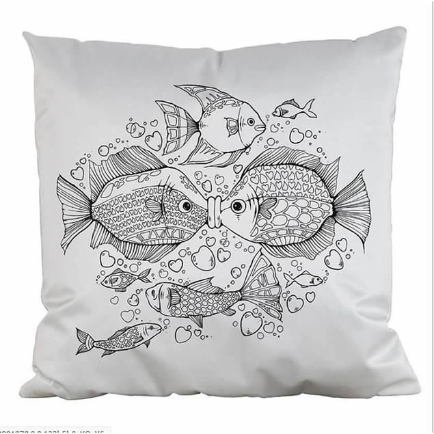 DIY Colouring Cushion Covers Cotton Linen Pillow Cases 45cm x45cm