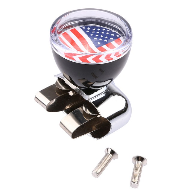 USA American Flag Steering Wheel Spinner Suicide Knob Handle for Car