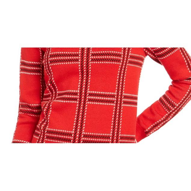 Charter Club Women's Printed Crewneck Sweater Medium Red Size X-Large