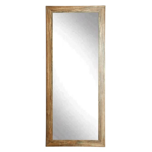 "BrandtWorks Perfect Durable Blonde Barnwood Floor Mirror - 32"" x 71"""