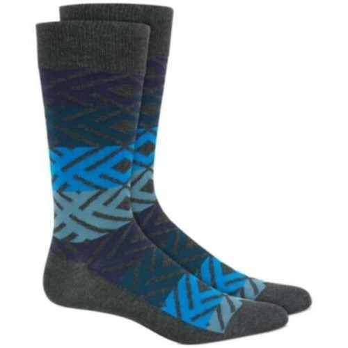 Alfani Men's Printed Socks Blue Size Regular