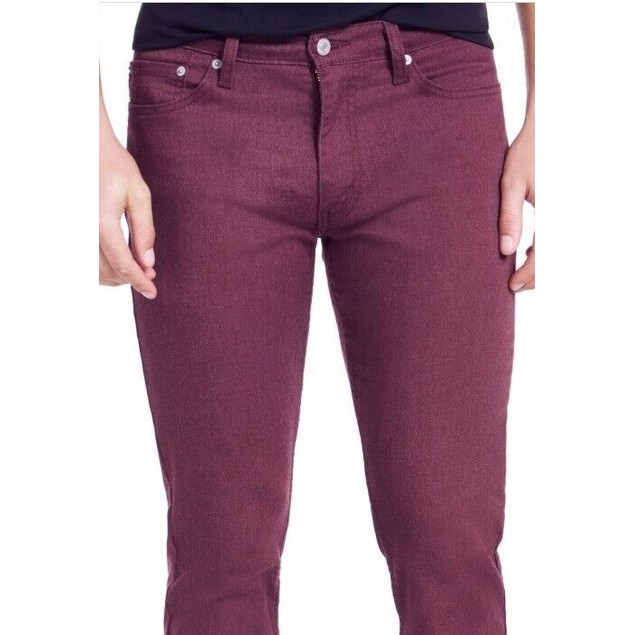 Levi's Men's Slim-Fit Stretch Flannel Jeans Red Size 33X32