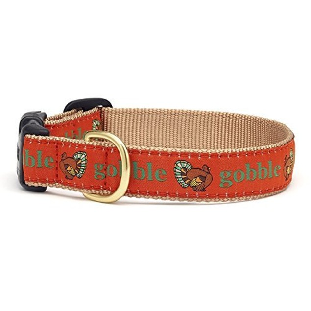 Up Country Gobble Gobble Thanksgiving Turkey Dog Collar, Large