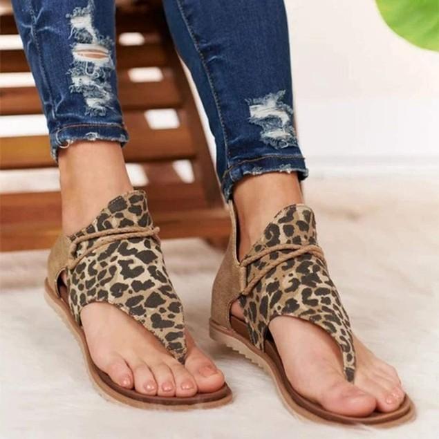Leopard Gladiator Posh Sandals