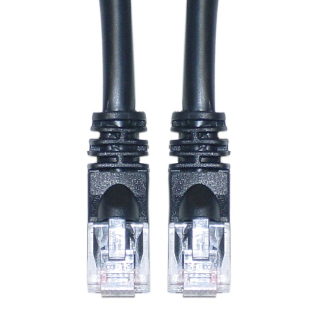 Cat6 Black Ethernet Patch Cable, 10 foot