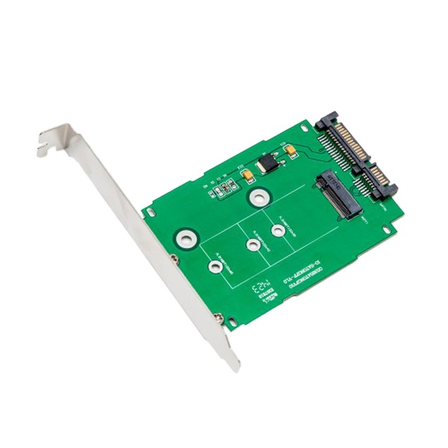 """M.2 NGFF to 2.5"""" SATA III Card with Full & Low Profile Brackets"""