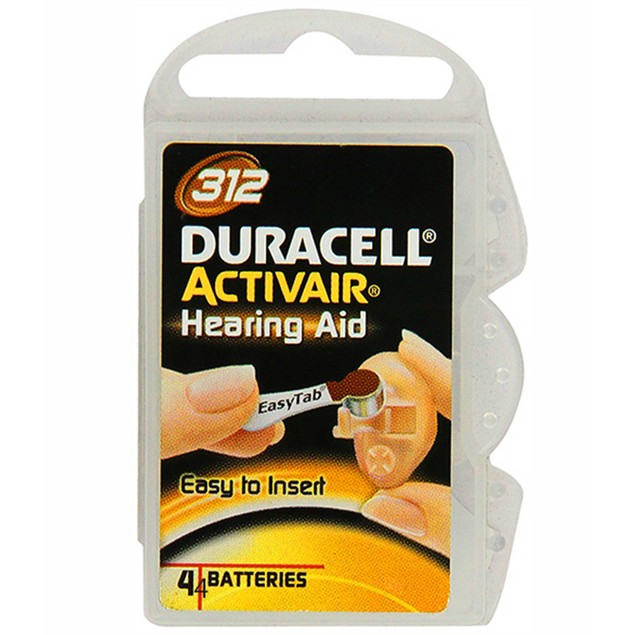 Duracell Activair Size 312 Zinc Air Hearing Aid Batteries (40 pack)