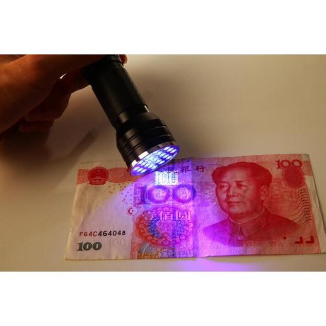 21 LED 395 nM UV Ultra Violet Blacklight Flashlight For CSI Inspection Ligh