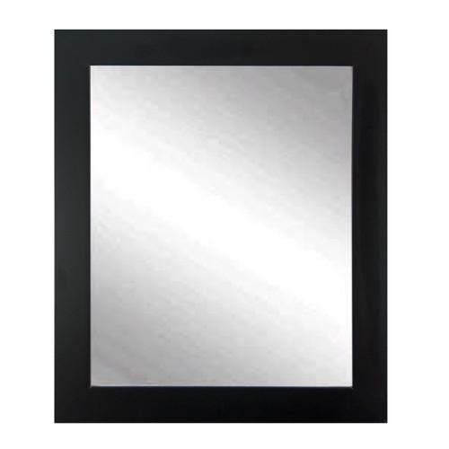 "BrandtWorks Perfect Durable Black Entry Way Wall Mirror - 32"" x 36"""