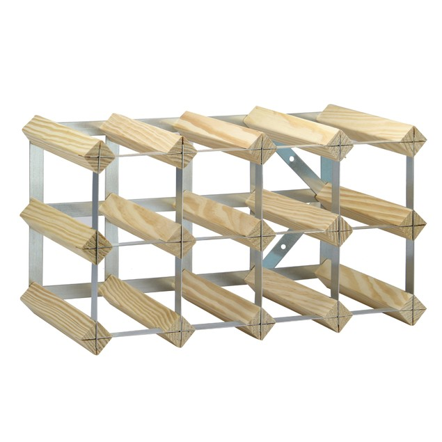 Wood and Metal Wine Rack | MandW