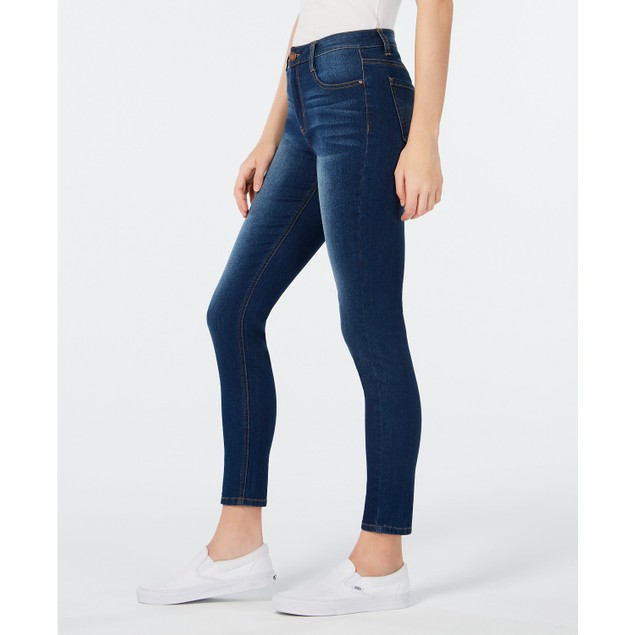 Tinseltown Juniors' High Rise Skinny Jeans Blue Size 0