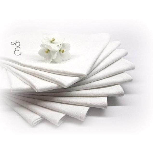 4 Personalized Napkins SET 100% Cotton -Free shipping