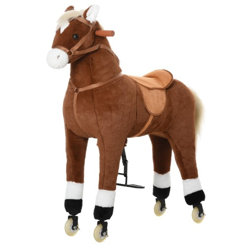 Indoor Children Fun Rocking Rolling Pony w/ Large Size for Kids 5-12 Years