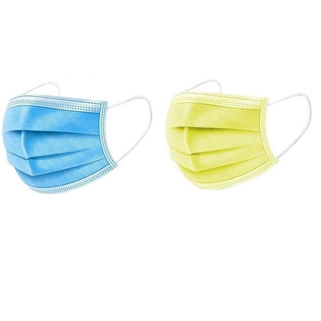 (100-Pack)  Disposable Non-Medical 3-Ply Face Masks- 6 Colors