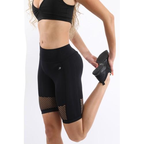 Malibu Seamless Activewear Shorts - Black