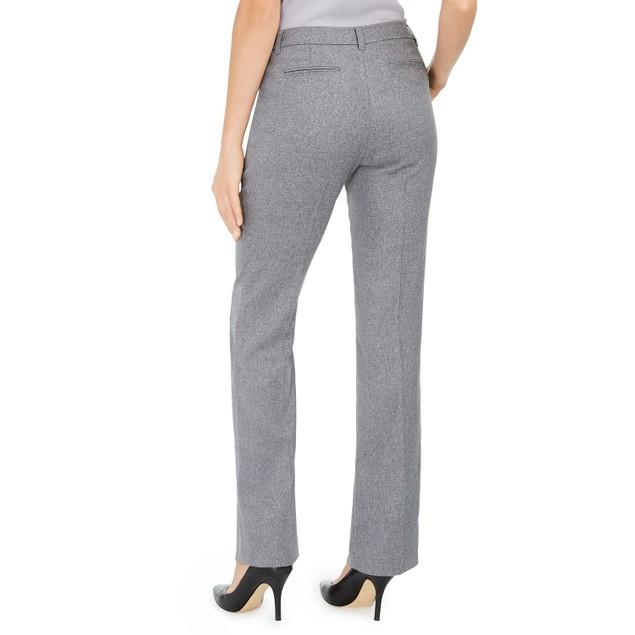 Anne Klein Women's Duke Twill Dress Pants Gray Size 12