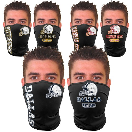2-Pack Unisex Football Home Team and Game Day Neck Gaiter