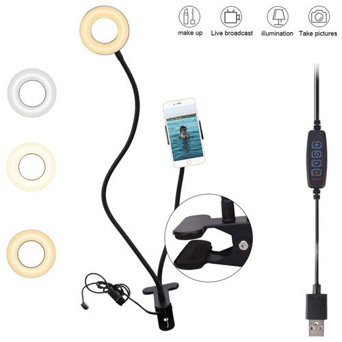 USB 4 inch Live Fill Light Desktop Clip Lamp 5W 5V 48LED 2835 Lamp Beads Light