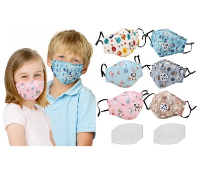3-Pack Kids' Reusable Cotton Face Masks with Filters Was: $39.99 Now: $15.99.