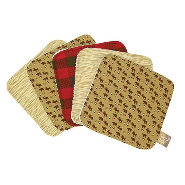 Trend Lab Northwoods Bouquet Wash Cloth Set - 5 Pack