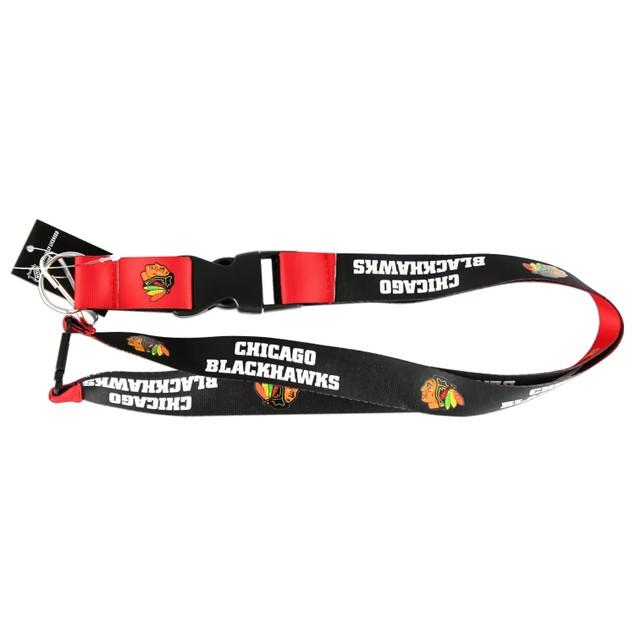 Chicago Blackhawks Reversible Lanyard Keychain Badge Holder NHL