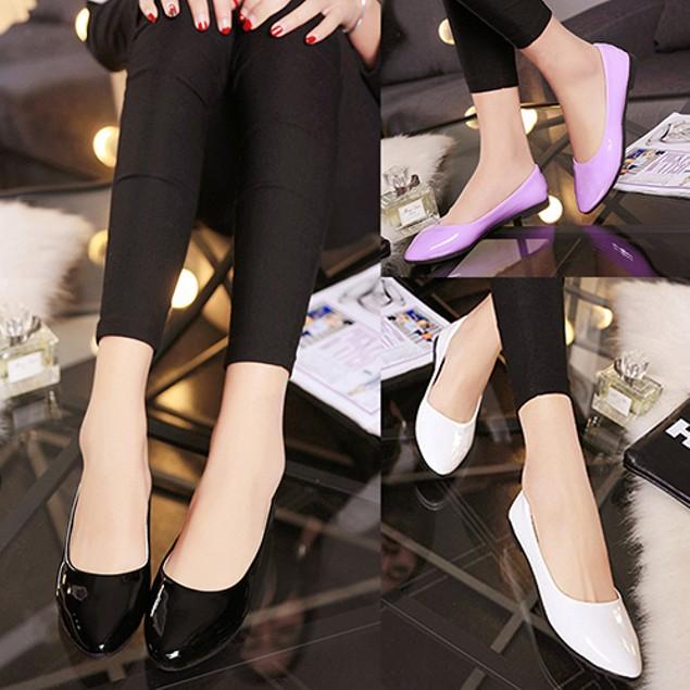 Women Fashion Candy Color Flat Shoes