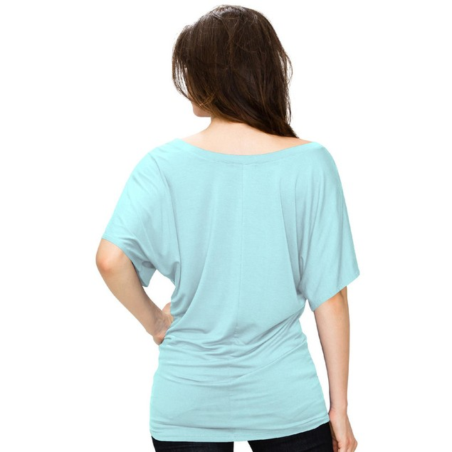 Women's Scoop Neck Tunic Blouse With Side Shirring (XS-3X)