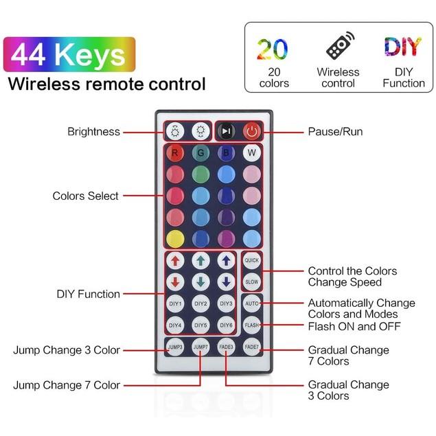 32.8 ft. Multi Color LED Flexible Strip Lights for Ceiling/Bar/Counter/Cabinet Decoration