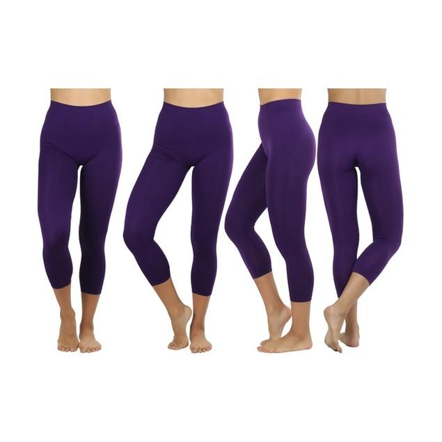 Women's Capri Seamless Lightweight Stretch Leggings