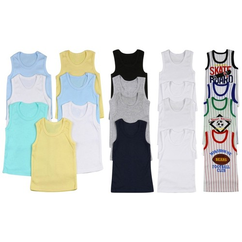(4 Pack) ToBeInStyle Boys' Cotton Tank Tops