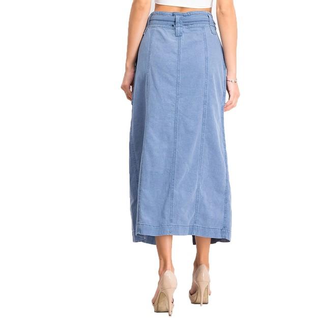 Free People Women's Catching Feelings Midi Skirt  Navy Size 10