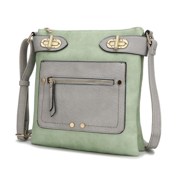 MKF Collection Laura Color Block Cross-Body Bag