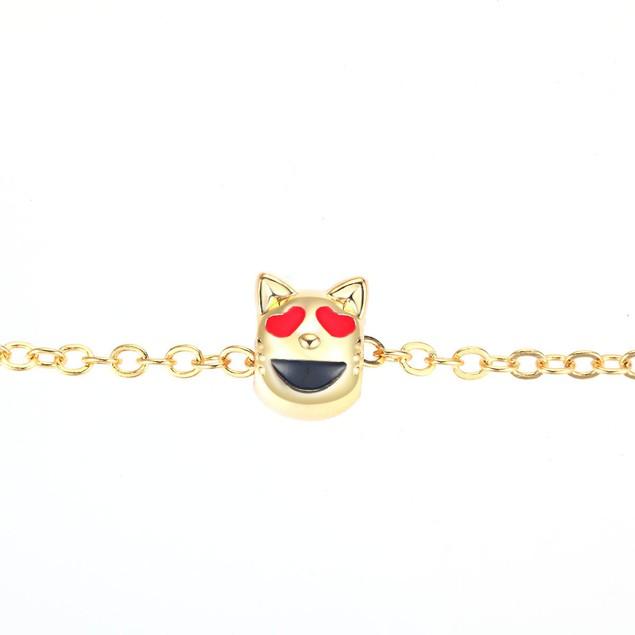 """Gold Tone Emoji Anklets, 9"""" - Choose Style"""