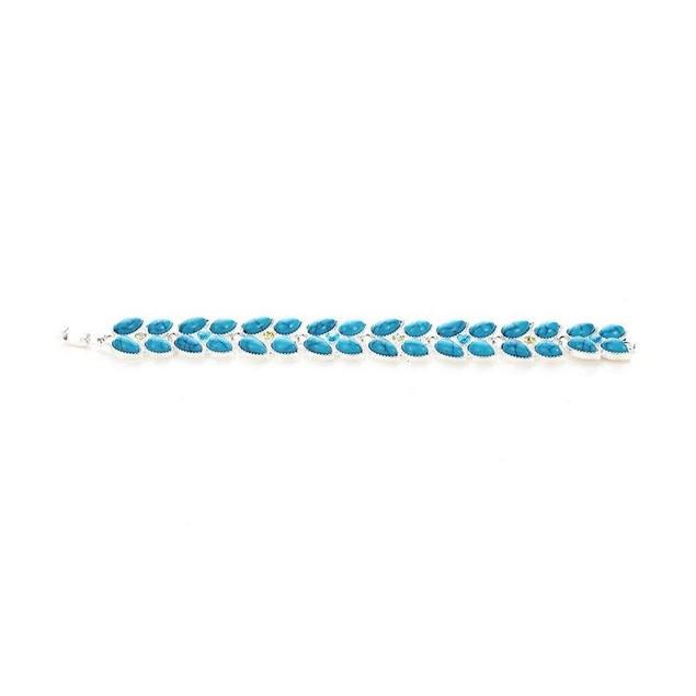 Novadab Dreamy Leaves Turquoise Citrine Bracelet