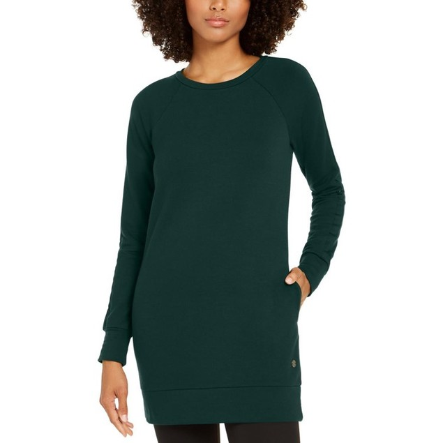 Ideology Women's Long Sleeve Tunic Dark Green Size XX Large